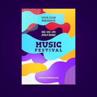 Abstract kleurrijk muziekposter
