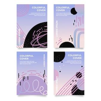 Abstract kleurrijk ontwerp covers