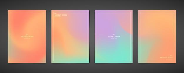 Abstract kleurrijk ontwerp mesh van brochure a4 sjabloon bundel set.