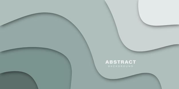 Abstract kleurrijk papercut creatief vormenontwerp