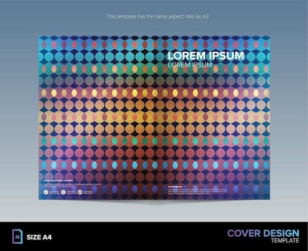 Abstract kleurrijk patroon cover design