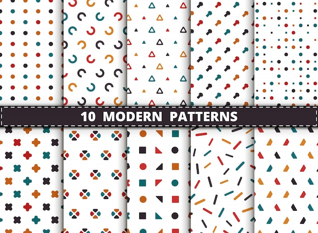 Abstract kleurrijk stijl modern geometrisch patroon.