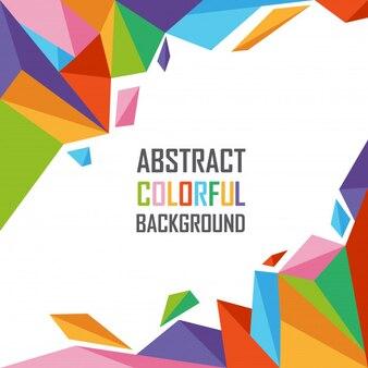 Abstract kleurrijk van geometrische veelhoekachtergrond