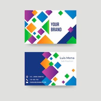Abstract kleurrijk visitekaartje sjabloonontwerp
