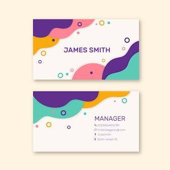 Abstract kleurrijk visitekaartje