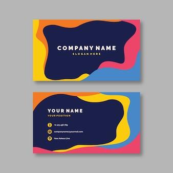 Abstract kleurrijk visitekaartjesjabloonpakket