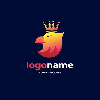 Abstract koning adelaar gradiënt minimalistisch logo