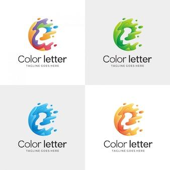 Abstract letter e contour logo