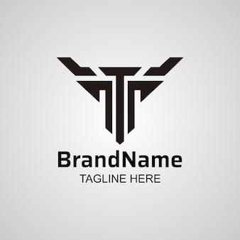 Abstract letter t-logo, creatief t & y-pictogramontwerp.