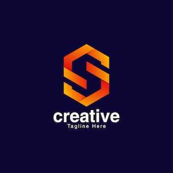 Abstract letterlogo voor media en entertainment