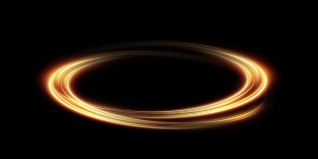 Abstract lichteffect van gouden lijn van licht