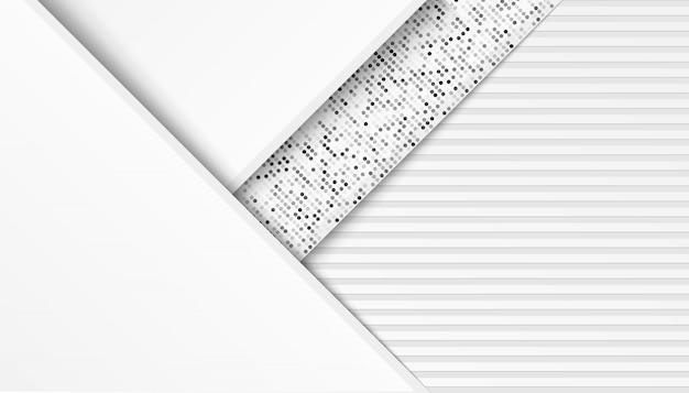 Abstract lijn licht zilver met de rode achtergrond van overlappingslagen