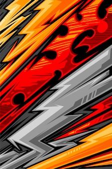 Abstract lijnpatroon voor extreme sport jersey team