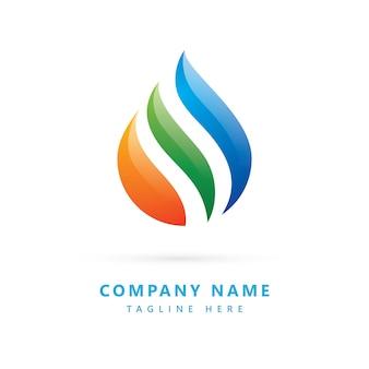 Abstract logo gemaakt met kleurrijke waterdruppelvorm