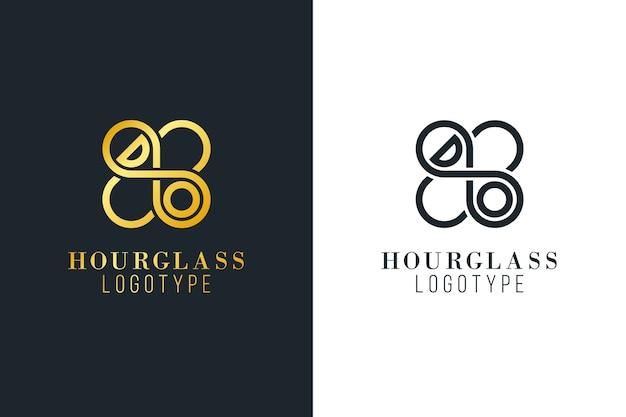 Abstract logo in twee versies