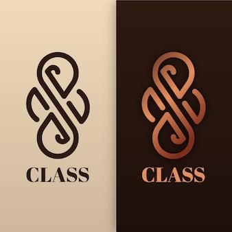 Abstract logo in twee versiestijl