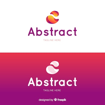 Abstract logo in verloopstijl