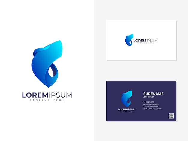 Abstract logo met sjabloon voor visitekaartjes