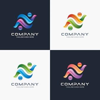 Abstract logo met stippen