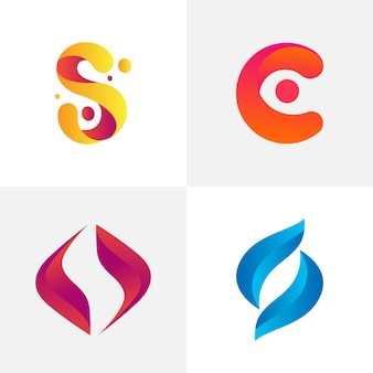 Abstract logo sjabloon