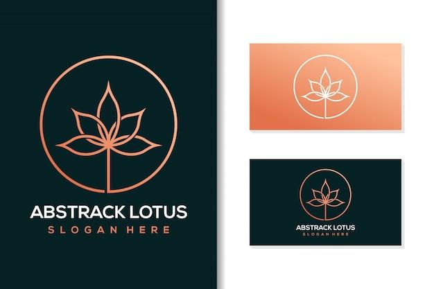 Abstract lotus logo ontwerp