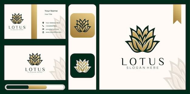Abstract lotus logo ontwerp
