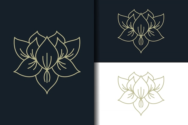 Abstract lotus logo