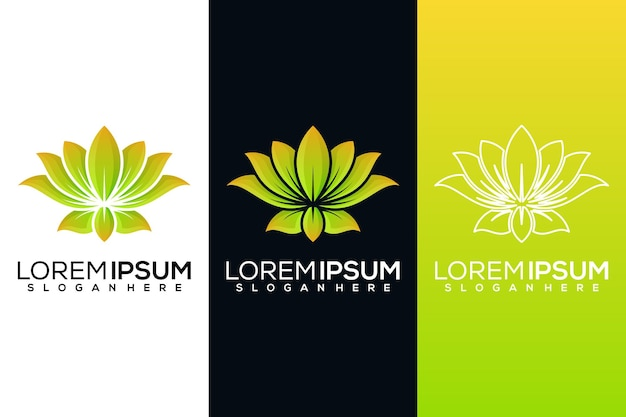 Abstract lotus logo