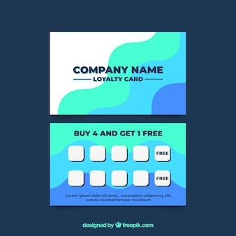 Abstract loyaliteitskaartmalplaatje met kleurrijke stijl