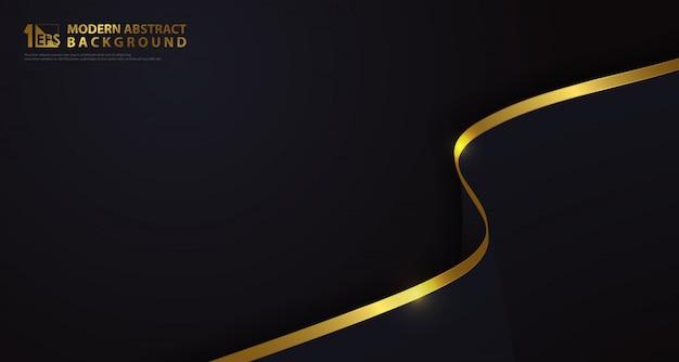 Abstract luxe goud met klassieke donkerblauwe element decoratieve achtergrond. Premium Vector