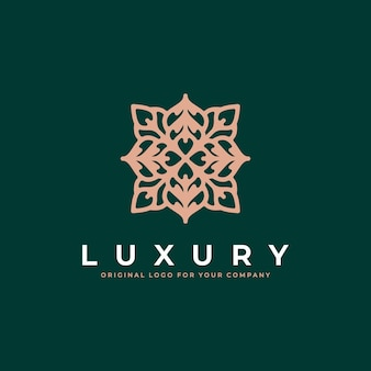 Abstract luxe ornament logo-ontwerp