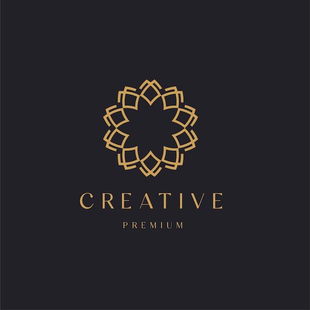 Abstract luxe ornament met lijnstijl. bloem concept sjabloon illustratie