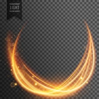 Abstract magisch licht effect met gouden golf