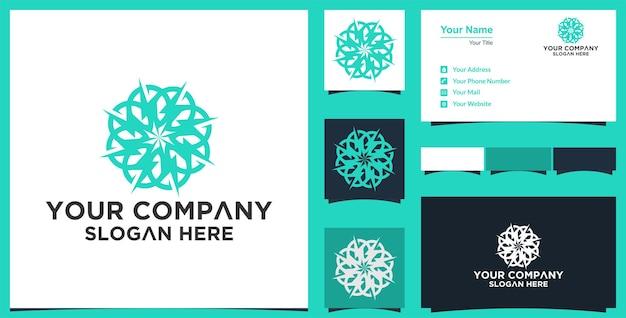 Abstract mandala bloem vectordesign elegant premium ornament vector logo en visitekaartje