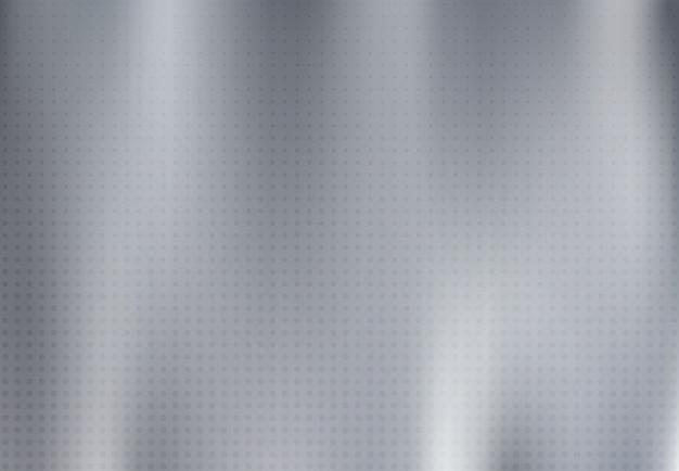 Abstract massief zilver titanium plaatmateriaal met grunge lijn met halftoon decoratieve achtergrond.