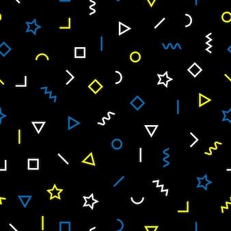 Abstract memphis-stijl naadloos patroon