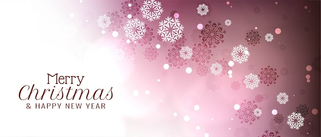 Abstract merry christmas festival banner ontwerp