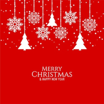 Abstract merry christmas groet rood