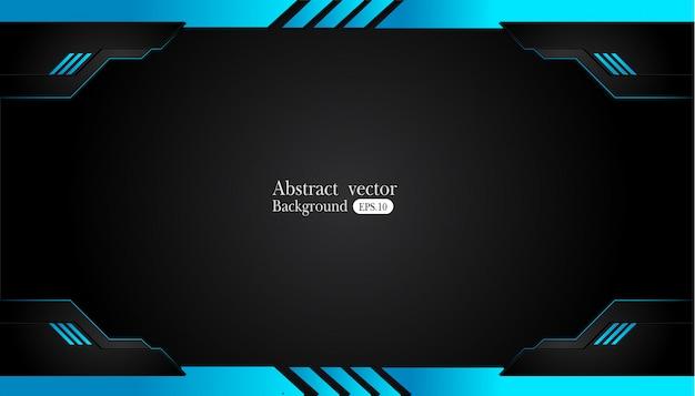 Abstract metaal blauw zwart de innovatieconcept van het kaderontwerp