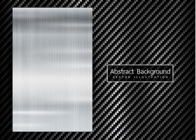 Abstract metaalframe op koolstof kevlar textuur