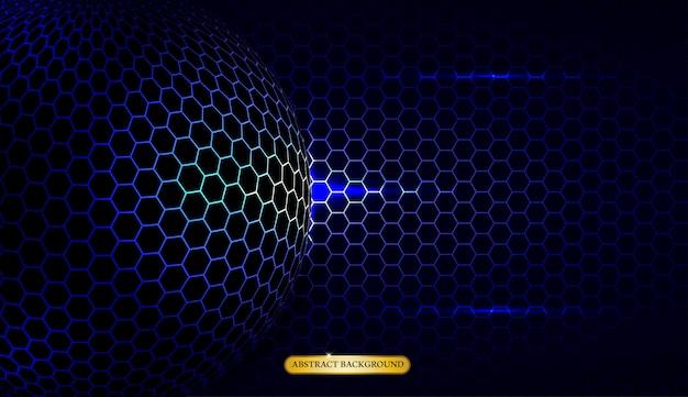 Abstract metallic blauw geometrische frame sport achtergrond
