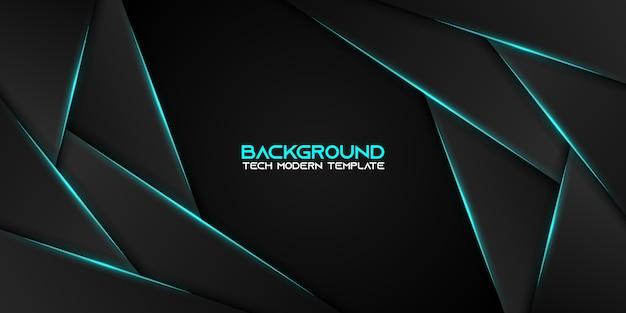 Abstract metallic blauw zwart frame moderne technologie ontwerpsjabloon