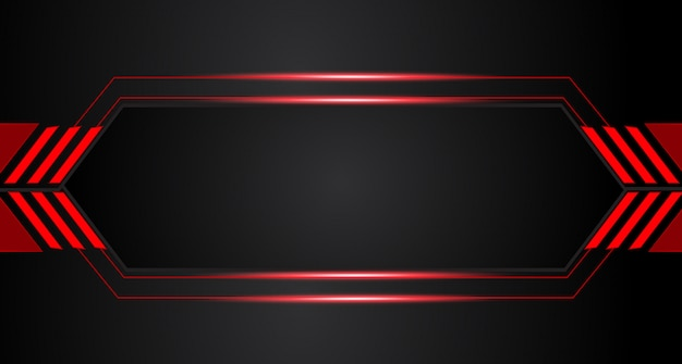 Abstract metallic rood zwart frame lay-outontwerp
