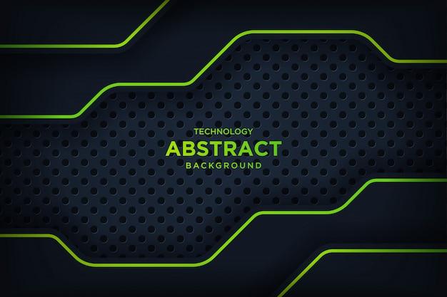 Abstract metallic zwart groen frame layout moderne technologie