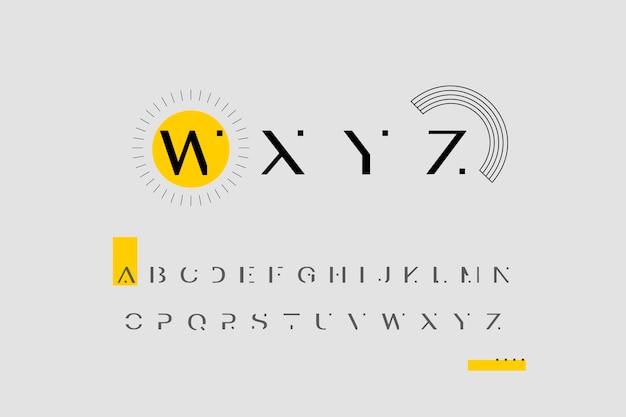 Abstract minimaal alfabet