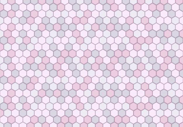 Abstract minimaal zeshoekig patroonontwerp van zachte pastelkleurachtergrond.