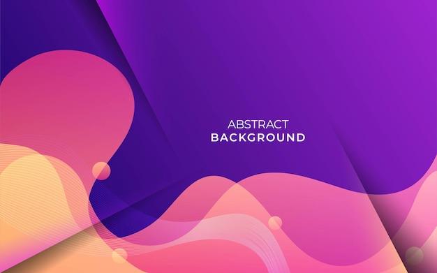 Abstract minimalistisch geel golf vector achtergrond bannerontwerp
