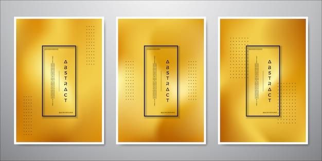 Abstract minimalistisch gouden ontwerp als achtergrond