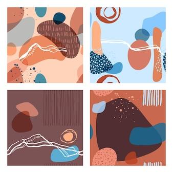 Abstract minimalistisch naadloos patroon met trendy stijl overlay-vormen, gebruikt voor sociale media, verhalensjabloon, decoratie, pakket, stoffen, textiel, omslagontwerp. vector illustratie.