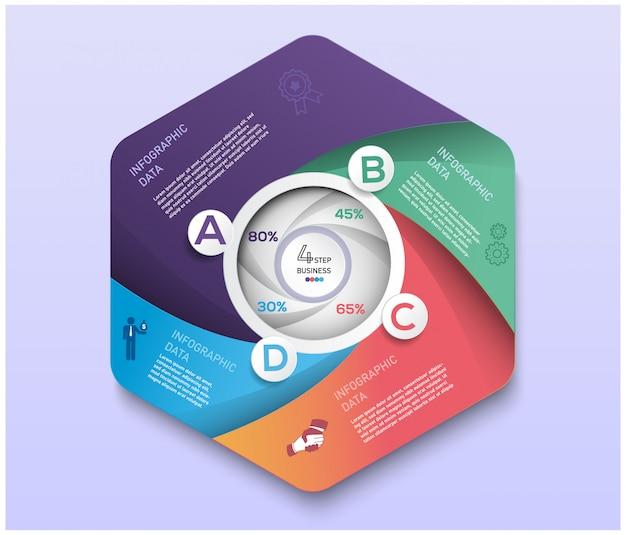 Abstract modern bedrijfsmarkeringsconcept voor infographic.